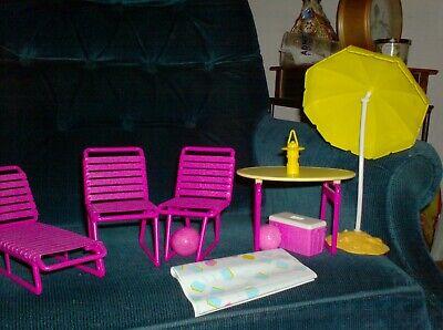 Vintage Barbie Outdoor Furniture Set Multi piece Excellent clean condition
