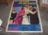 Tre Donne Per Uno Scapolo Manifesto 2f Originale 1965 -  - ebay.it