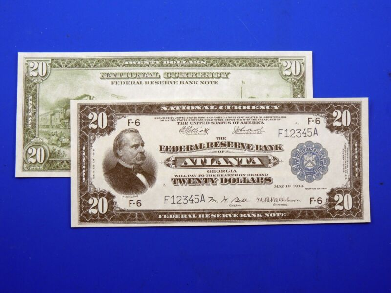 Reproduction $20 1918 FRBN US Paper Money Currency Copy