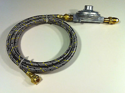 Propane Regulator And 6 Ft Braided Hose Lp Gas Grill