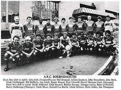AFC BOURNEMOUTH FOOTBALL TEAM PHOTO 1984-85 SEASON