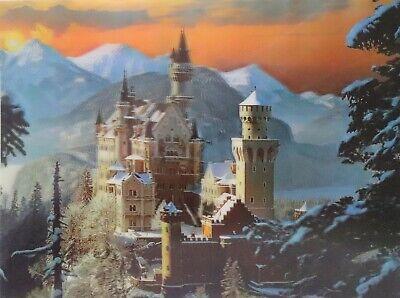 Castle Neuschwanstein 3D Lenticular Poster - Bavaria Germany 12x16 Print