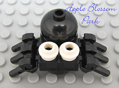 NEW Lego Halloween Animal CREEPY BLACK SPIDER w/White Eyes & 6 Legs -EZ Assembly - Halloween Assembly