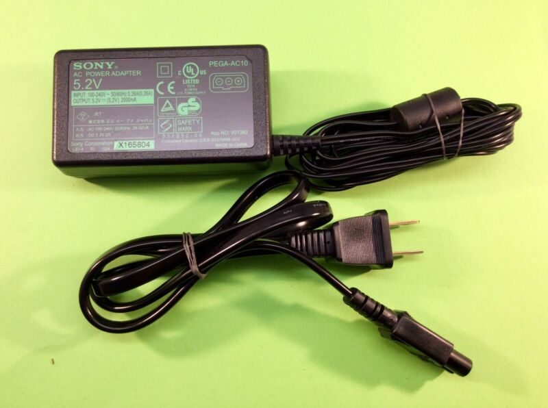 Sony PEGA-AC10 AC Power Supply Charger Adapter 5.2V For Clie PDA