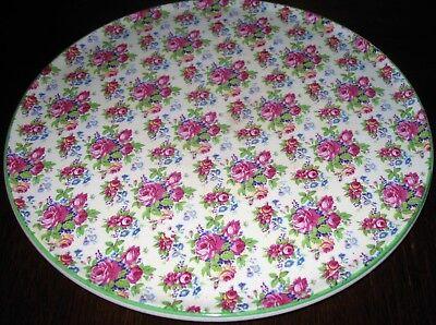 Cake Plate  Rose Chintz, Royal Tudor Ware (Barker Bros England)