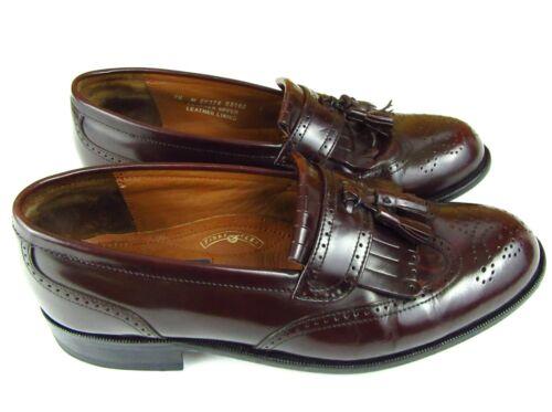 Bostonian First Flex 7.5M Vibram Classic Men's Wingtip Tassel loafers Ox Blood