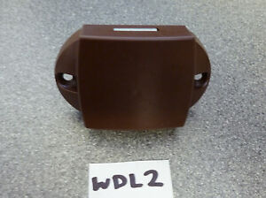 Caravan or Motorhome wardrobe door brown push button lock - rod version WDL2