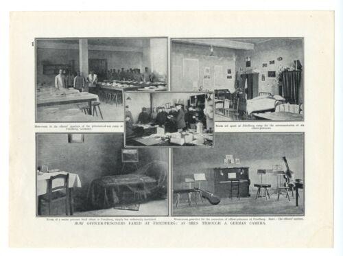 1915 WW1 Print FRIEDBERG British Officers POWs Berlin Kaiser HINDENBURG (146)