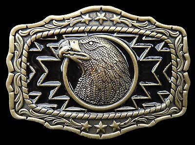 Wild Eagle Bird American Native Western Cowgirl Belt Buckle Boucle Ceinture for sale  Montreal
