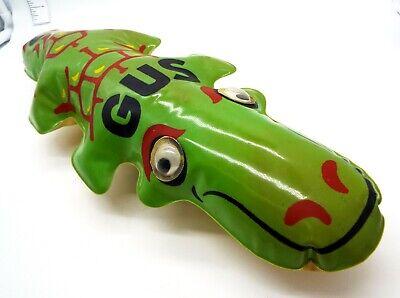 VTG 50s Blow Up Inflatable AHI JAPAN GUS GATOR +WHEELS Toy Alligator 18