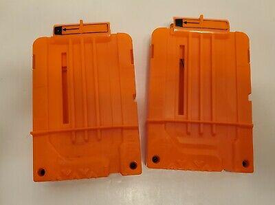 2 Nerf N-strike Elite 6 Round Dart Clip Cartridges Magazine Orange