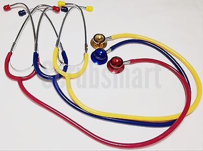 New Dual Head Child Pediatric Stethoscope Color Yellow Free Shipping Us Seller