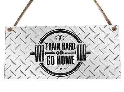Gym Weights Training Quote Wooden Novelty Plaque Sign Gift fcp35