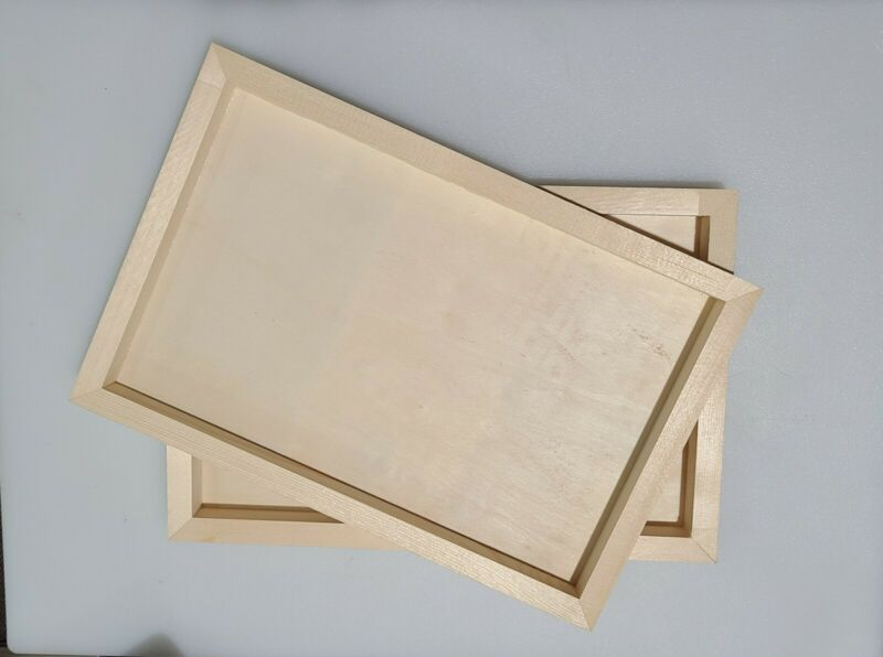 """(5) 8 x 11.75"""" Unfinished Wood Panels, Boxes, Trays, Canvas, Shadow box, Crafts"""