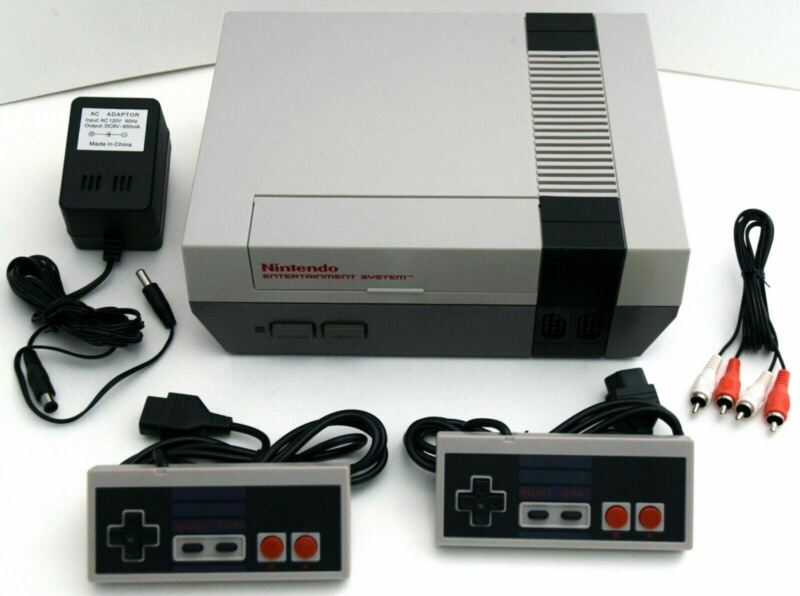 ORIGINAL Nintendo Entertainment System Video Game Bundle Set Kit NES Console OG