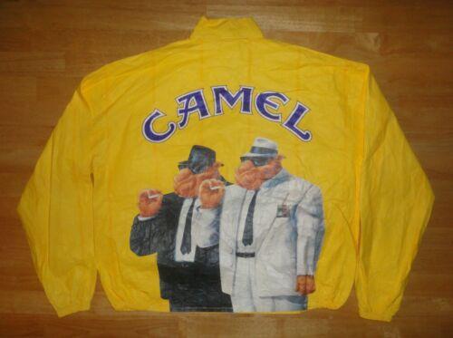 Vintage 1992 Joe CAMEL Cigarettes Yellow Tyvek Windbreaker Jacket XL *NWOT*