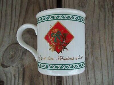 American Greetings Christmas Holly Be of Good Cheer Stoneware Mug Coffee Cup  ()