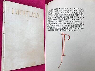 Die Briefe der DIOTIMA Insel Vlg Leipzig 1920 SELTEN N 31 von 320 Exem. Signiert