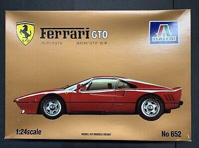 ITALERI FERRARI GTO 1984 NO.652 AUTHENTIC 1/24 SCALE RARE VINTAGE