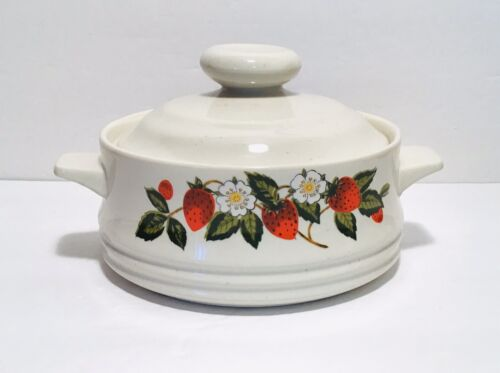 Vintage Sheffield Strawberries And Cream Lidded Dish - $8.99