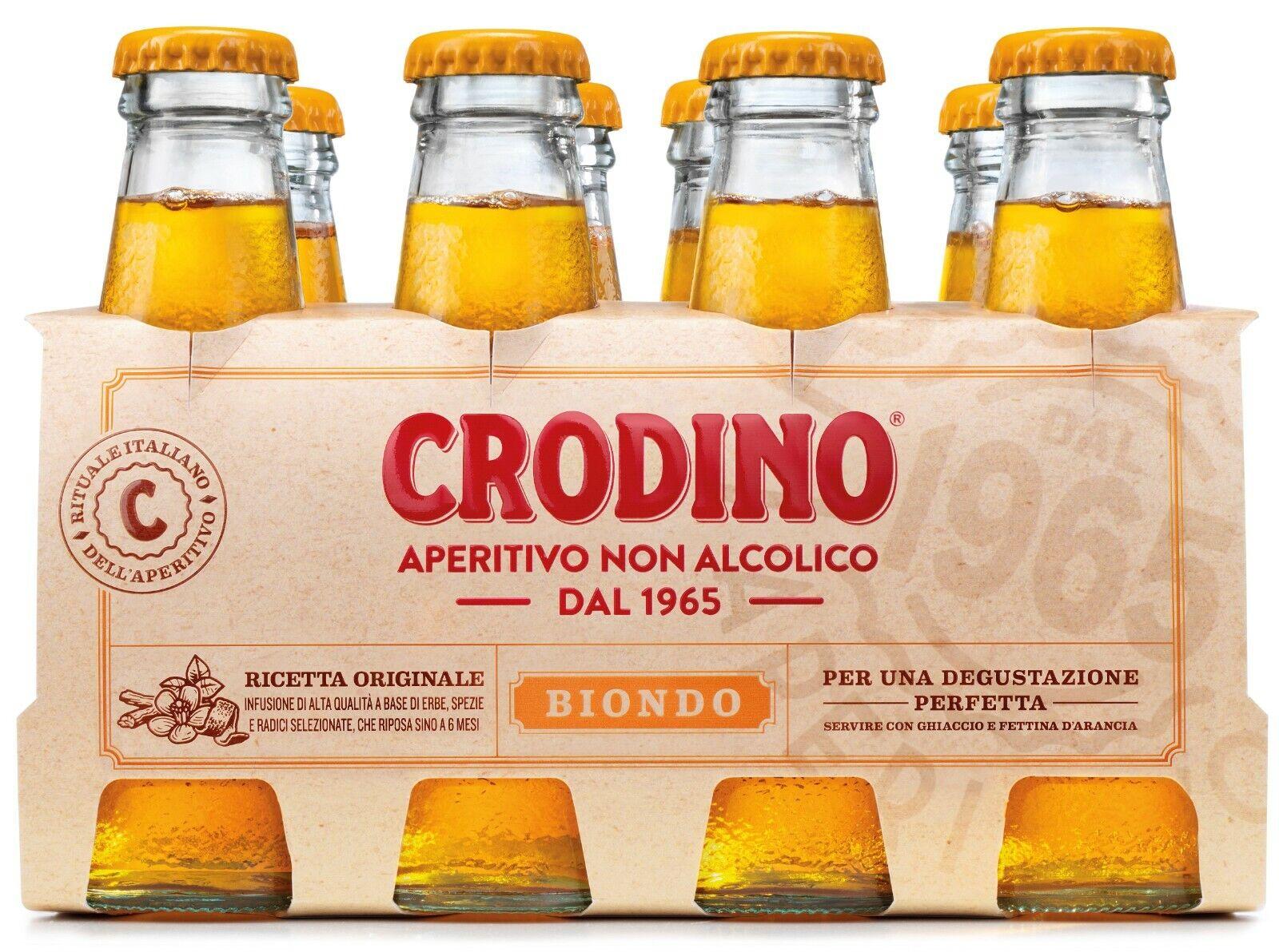 8 Flaschen Crodino Aperitivo 1965 Aperitif 9,8 cl alkoholfrei fertig gemixt