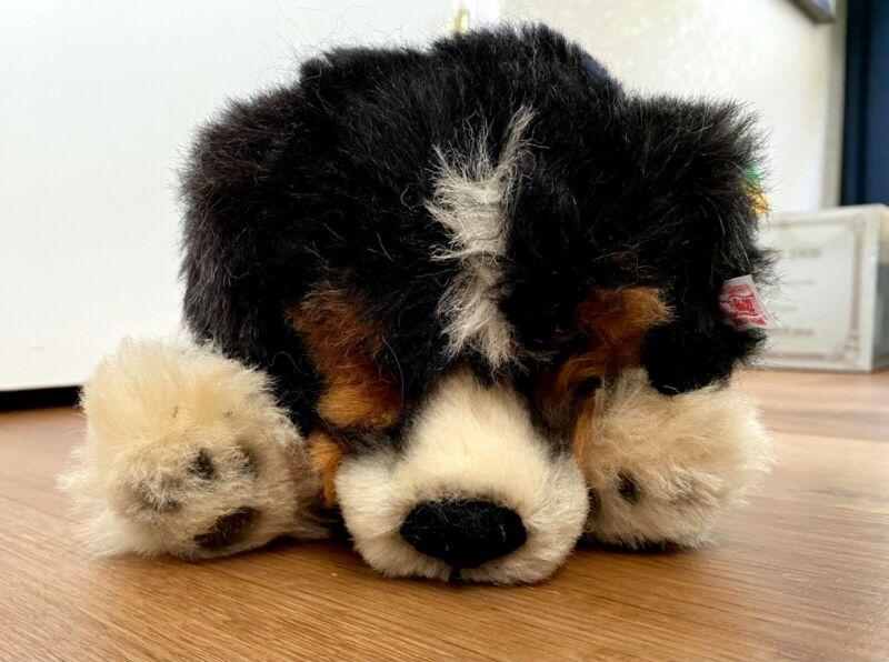 """Steiff Jackie Masterpiece Australian Shepherd Puppy 167/3000 LE Retired 14"""""""
