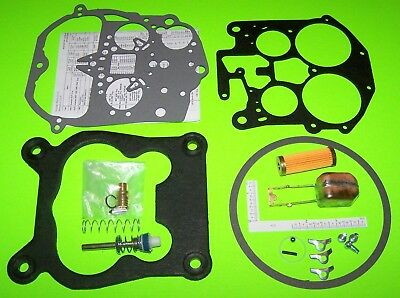 Rochester Quadrajet Carburetor Rebuild Kit w/ Brass Float & Filter 85 - 89 Chevy