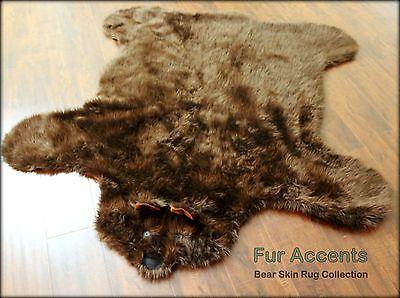Teddy Bear Skin Accent Rug Kids Nursery Play Carpet Mat Brown Shag Sheepskin - Rugs Teddy