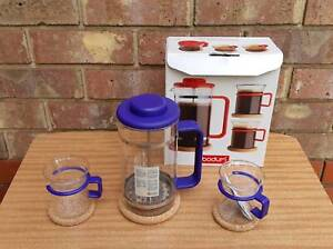 Vintage Coffee Plunger Set - Bodum Golden Grove Tea Tree Gully Area Preview