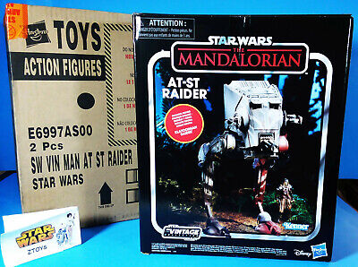 STAR WARS VINTAGE COLLECTION💥MANDALORIAN💥AT-ST RAIDER W/FIGURE💥CASE FRESH NEW