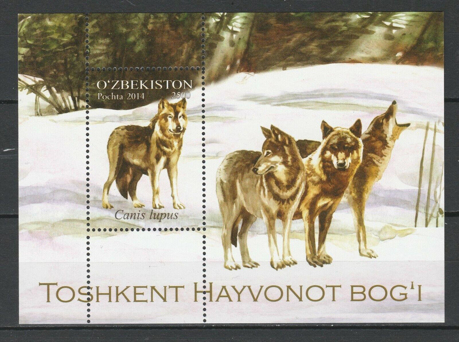 Uzbekistan 2014 Fauna Animals Wolf MNH Block