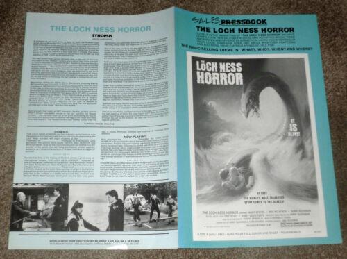 THE LOCH NESS HORROR original 1981 uncut movie pressbook LARRY BUCHANAN