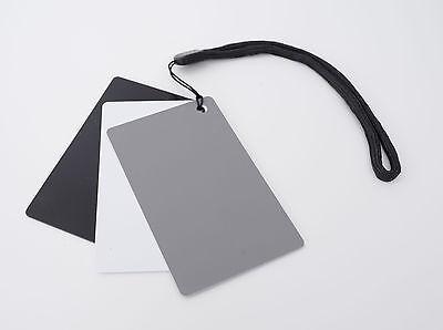 Karte Schwarz Und Weiß (3in1 Graukarte zum Weissabgleich mit Schwarz und Weißreferenz White Balance )