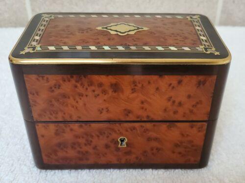 Antique 19th Century French Thuya Wood Perfume Casket, Perfumerie, Perfume Box,