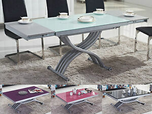 Table Basse Relevable Transformable Rita Verre Neuf