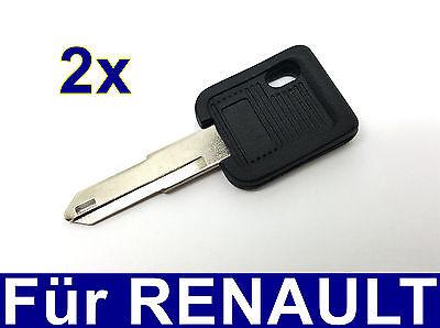 2x Ersatz Schlüssel rohling für Renault ESPACE R18 R19 R21 R25 R5 SUPERCINQUE ()