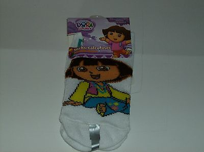 White Dora The Explorer Ankle Socks Size 2-4