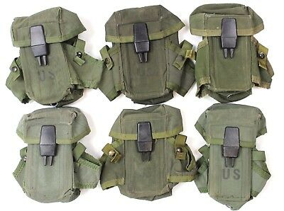 Used, GENUINE US ARMY LC2 AMMO MAGAZINE GRENADE WEBBING POUCH  for ALICE SYSTEM M16 for sale  Haltwhistle