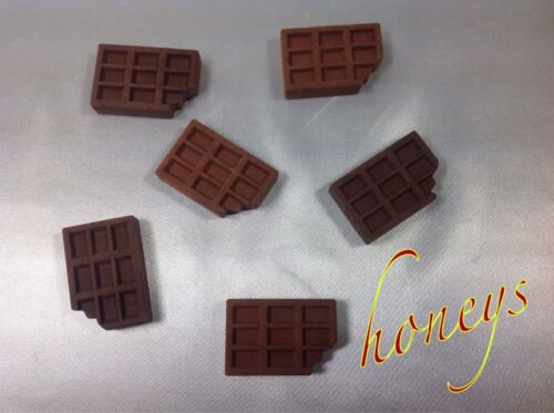 Fun Novelty Erasers - Scented Chocolate CANDY BAR ERASERS Set of 6 Candy Erasers