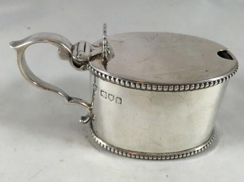 Edwardian Silver Mustard Pot Goldsmiths LOndon 1914 86g DZX