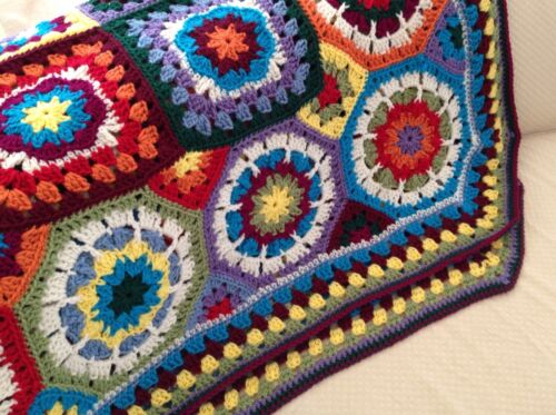 VINTAGE LOOK For NEW Granny Square Octagon ...