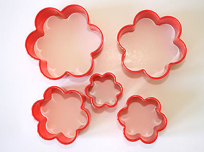 Blossom Cutters, Set of 5, Pastry, Biscuit, Fondant Plastic Cutters