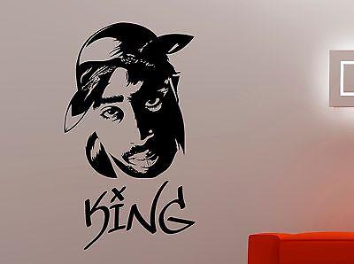 "music 2 pac shakur rapper window bumper x2 Tupac 8/""  Vinyl Sticker Decal"