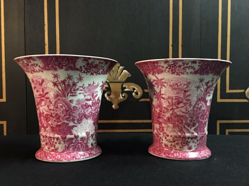 Pair Of French/Chinese Porcelain Planters