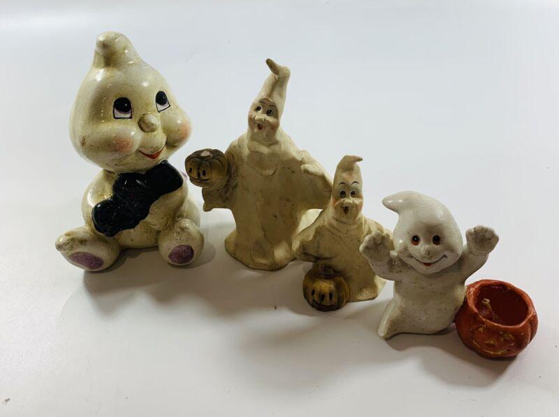 Cute vtg Halloween ghosts figurines Lot x4