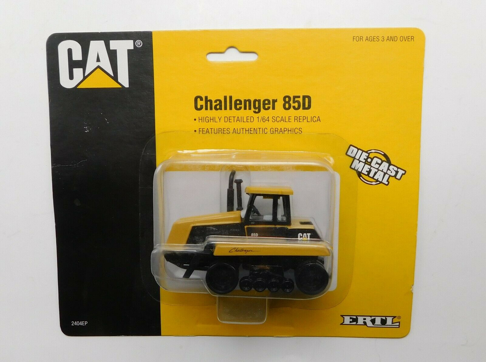 Ertl CAT Caterpillar Challenger 85D 1996 New on Card 1:64 Scale No Tracks
