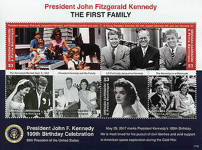Grenadines Grenada 2017 MNH JFK John F Kennedy 100th Birthday 6v M/S III Stamps