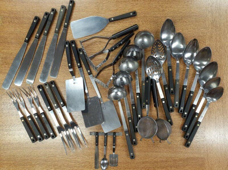 Flint Arrowhead Stainless Kitchen Utensil Lot - 39 Pieces
