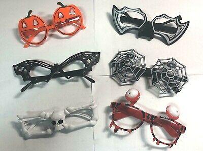 Halloween Funny Assorted Sunglasses Eye Glasses Night Party Costume - Set of 6 - Halloween Sunglasses Wholesale