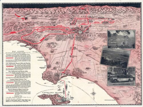 1930 pictorial map Special Sightseeing Map of Los Angeles and Vicinity 12082